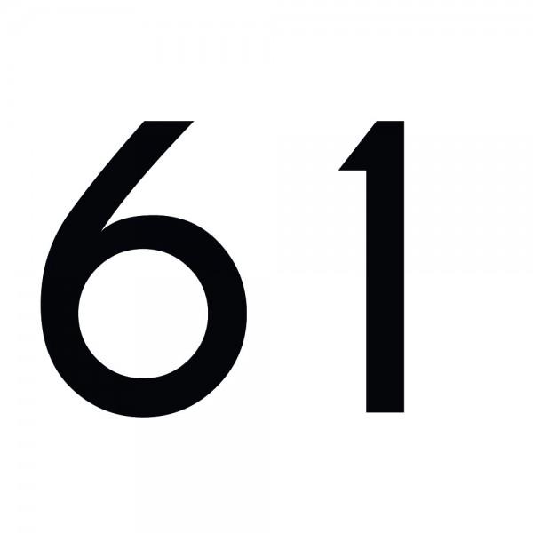 Zahlenaufkleber 61 schwarz