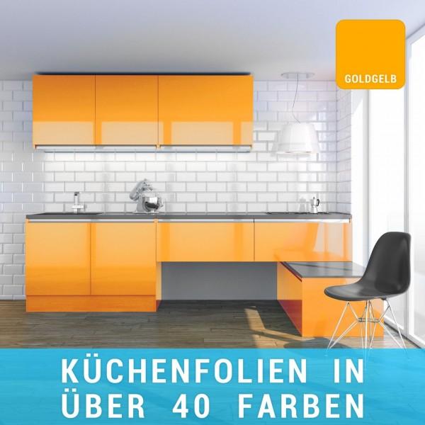 Küchenfolie goldgelb