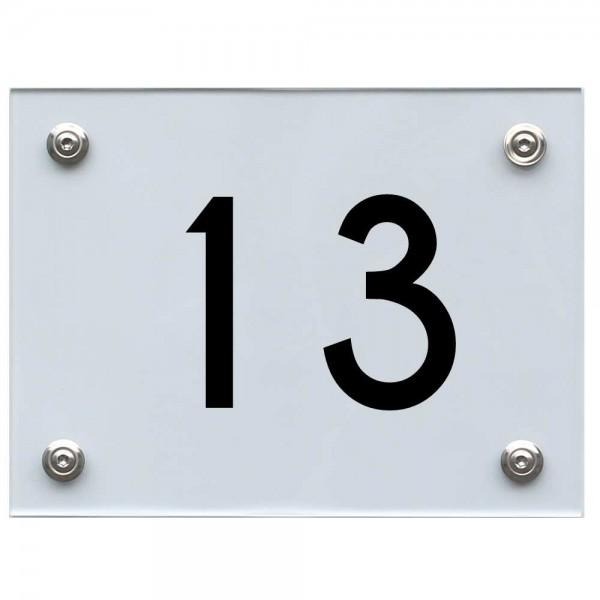 Hausnummernschild 13 schwarz