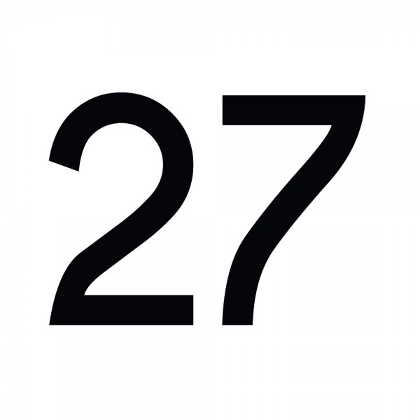 Zahlenaufkleber 27 schwarz