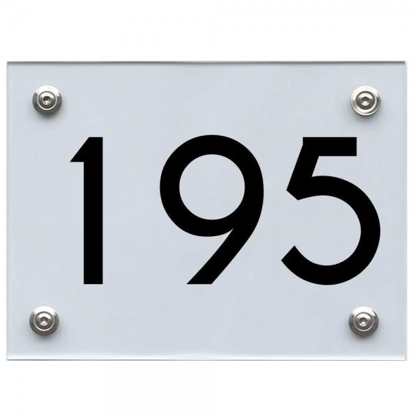 Hausnummernschild 195 schwarz