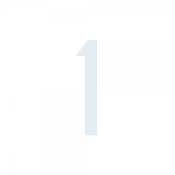 Zahlenaufkleber 1 weiß