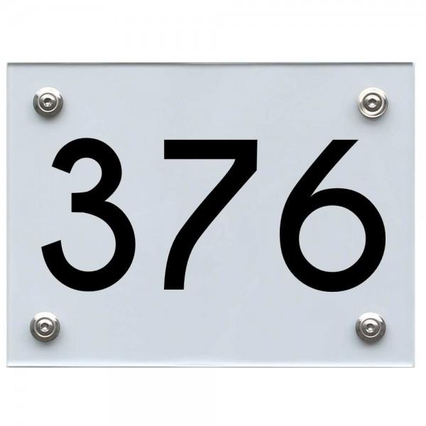 Hausnummernschild 376 schwarz