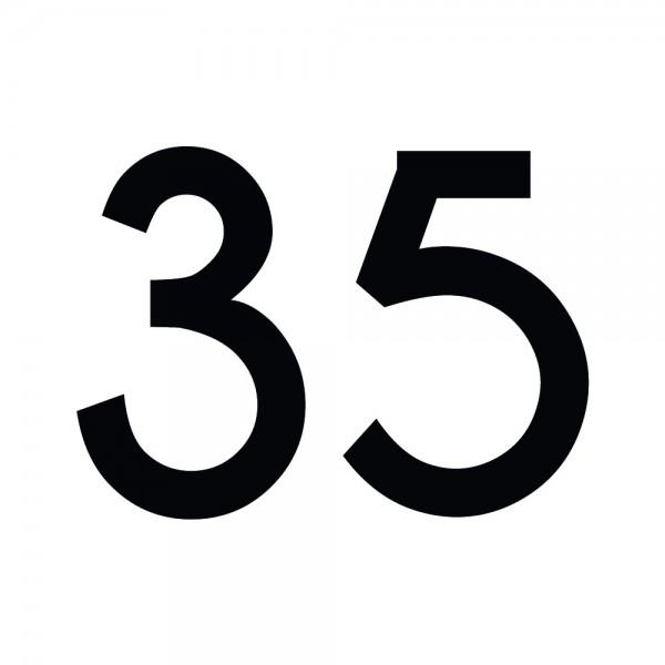 Zahlenaufkleber 35 schwarz