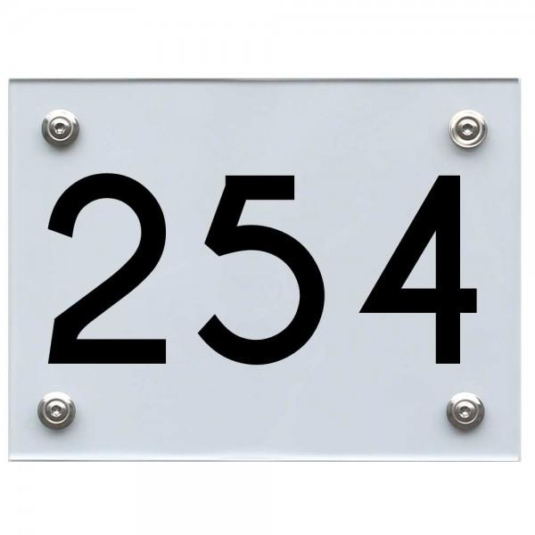 Hausnummernschild 254 schwarz