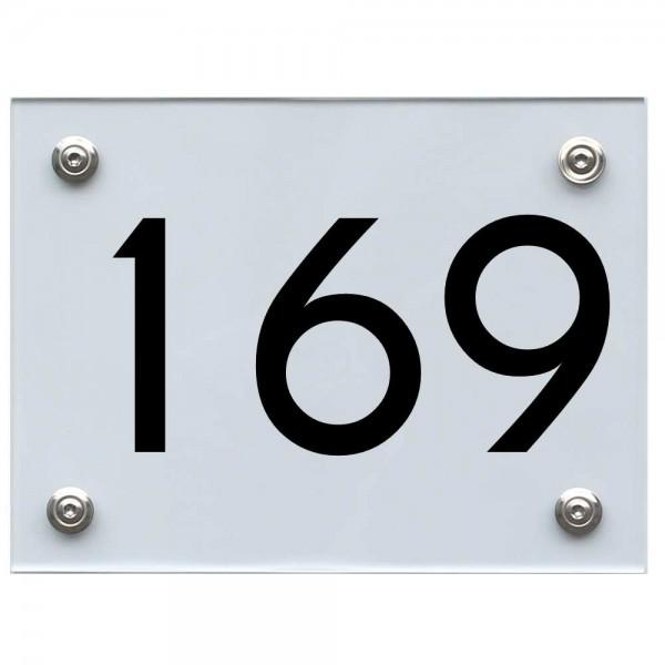 Hausnummernschild 169 schwarz