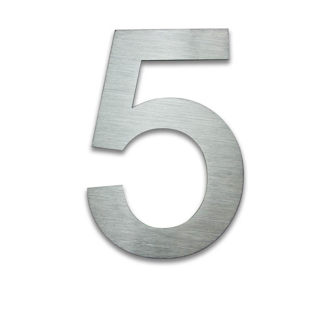 Hausnummer Edelstahl 5