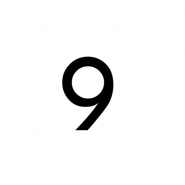 Hausnummer Aufkleber 9 schwarz