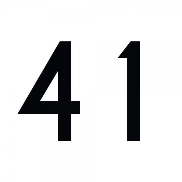 Zahlenaufkleber 41 schwarz