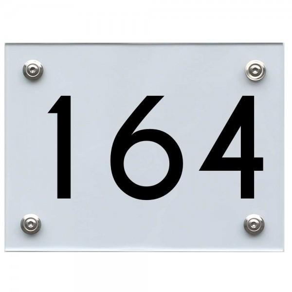 Hausnummernschild 164 schwarz