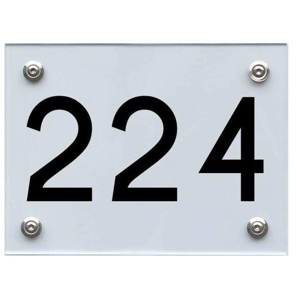 Hausnummernschild 224 schwarz