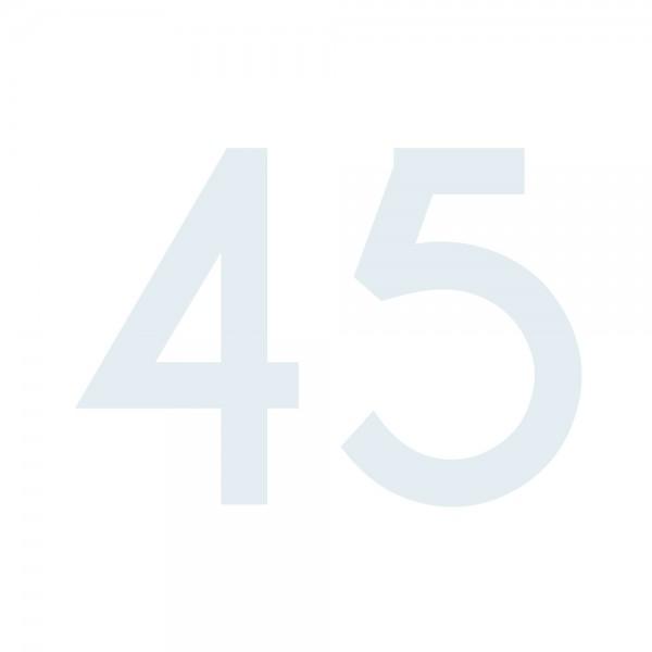 Zahlenaufkleber 45 weiß