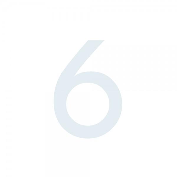 Zahlenaufkleber 6 weiß