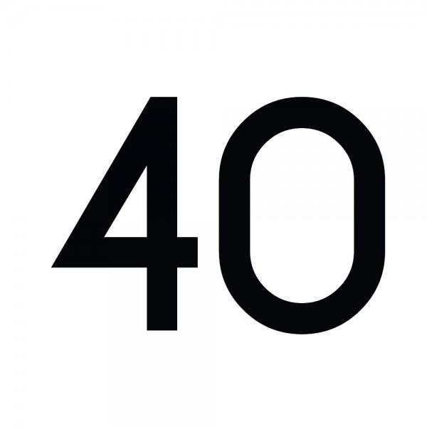 Zahlenaufkleber 40 schwarz