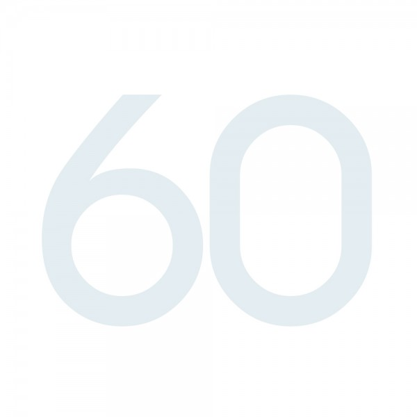 Zahlenaufkleber 60 weiß