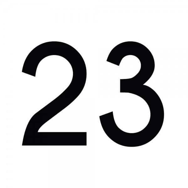 Zahlenaufkleber 23 schwarz