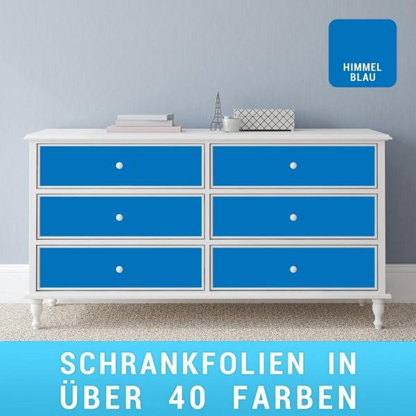 Schrankfolie himmelblau